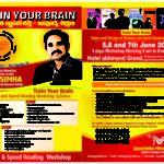 Memory and Speed Reading Workshop on 5th ,6th and 7th June 2017 by Squadron Leader Jayasimha