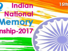 The OFFICIAL Indian National Memory Championship 2017