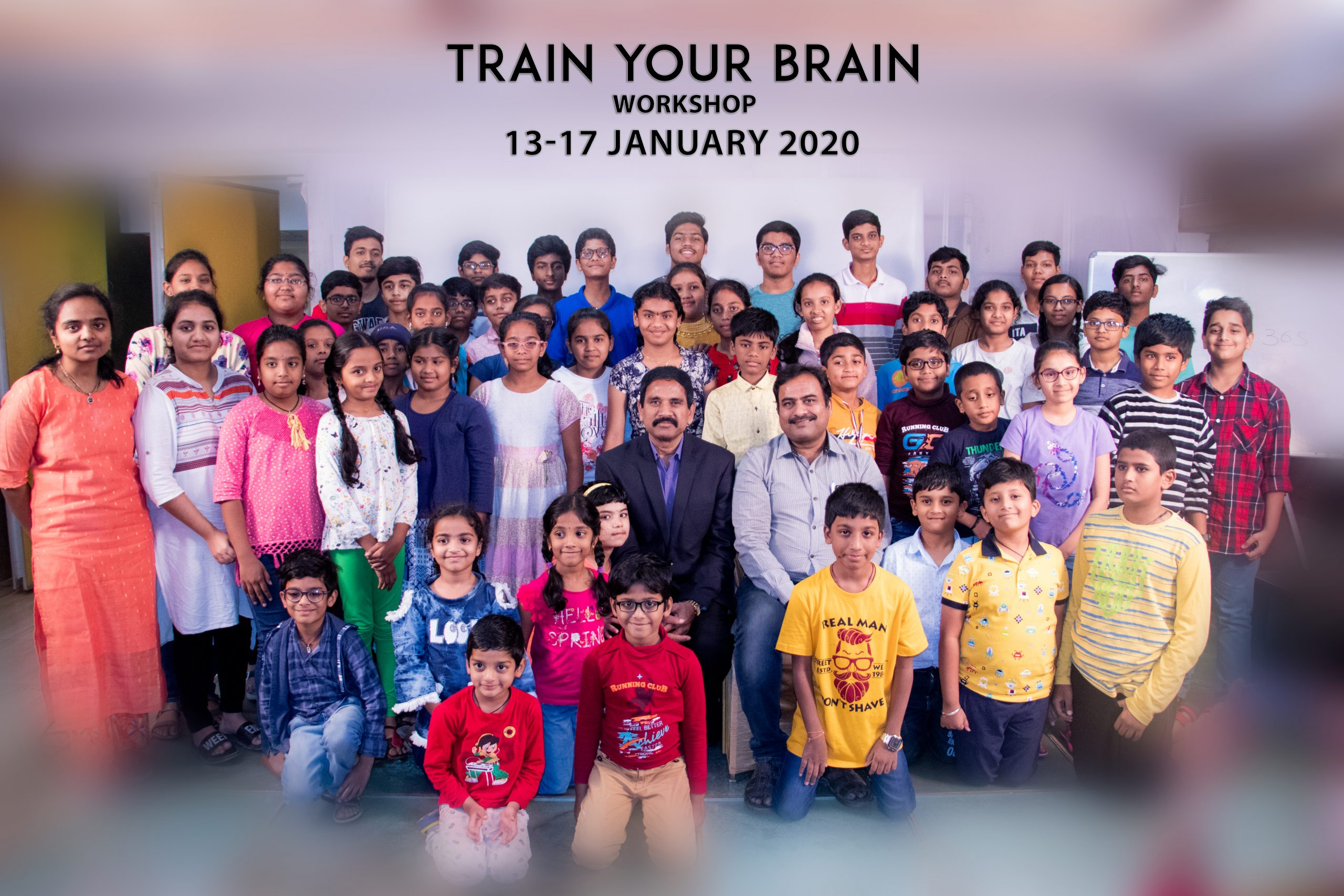 Train your brain workshop group photo